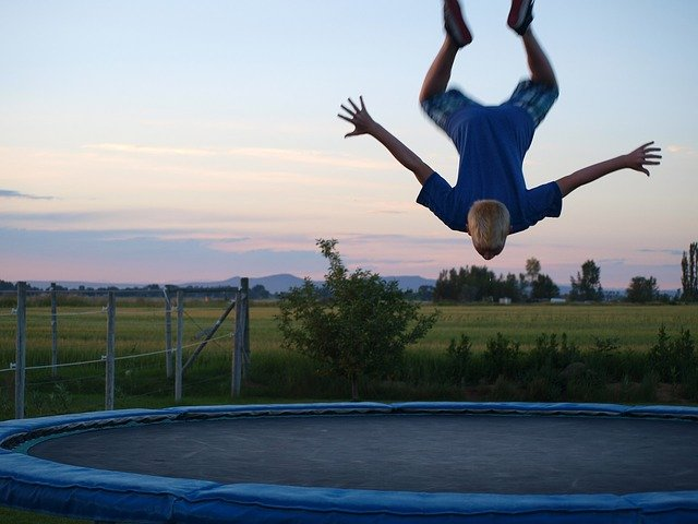 Dětská trampolína coby efektivní zábava