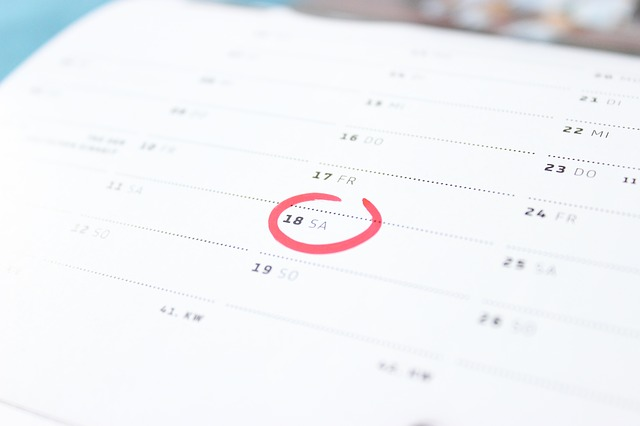zakroužkovaný datum